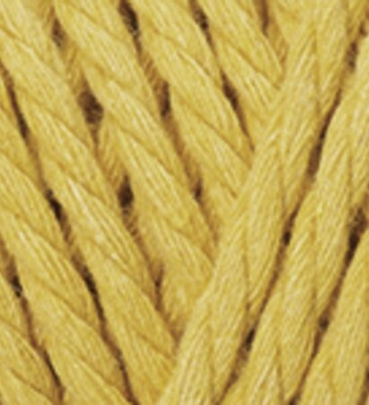 Macrame Rope 5mm - חרדל צהוב - חרדל צהוב
