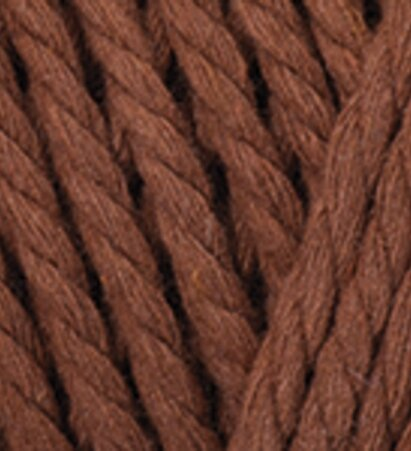Macrame Rope 5mm - חום חמרה אדום - חום חמרה אדום